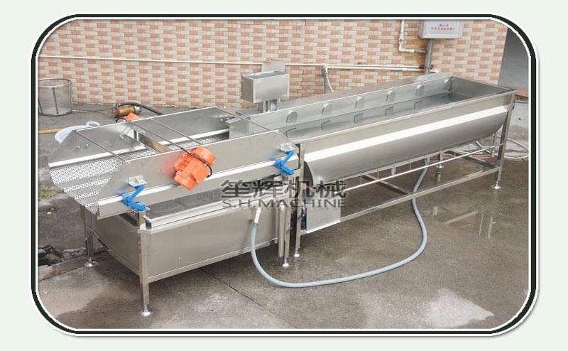 Circulating water surfing ozone vortex fruit and vegetable washing machine