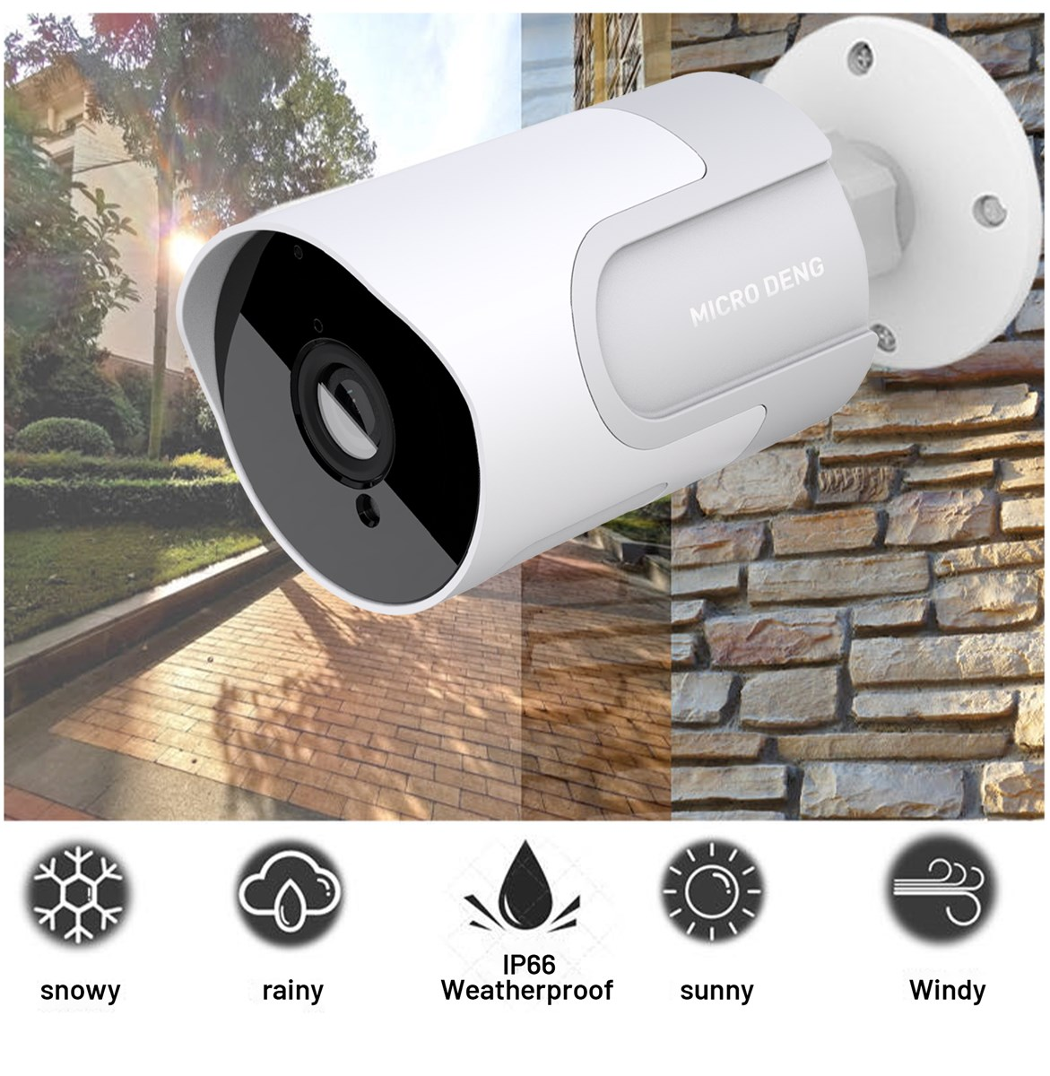 ip camera 1080p wifi outdoor ip66 ir color Dome outdoor ptz wifi camera support Two Way Audio