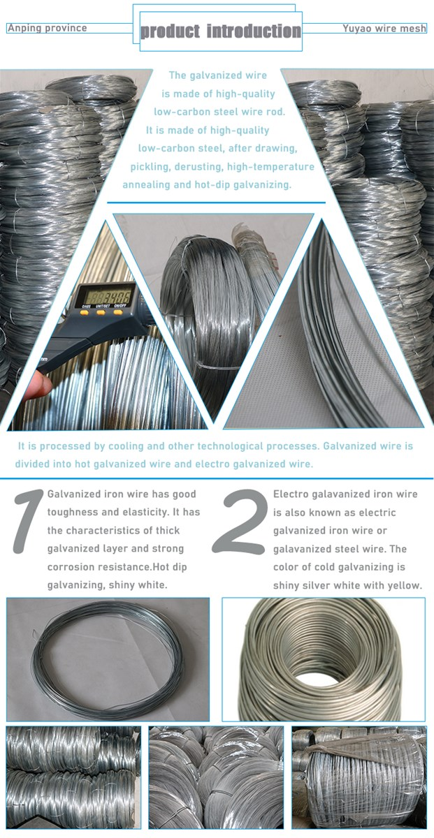 hot dipped galvanized steel wire 10mm 30mm electro galvanized Iron wire