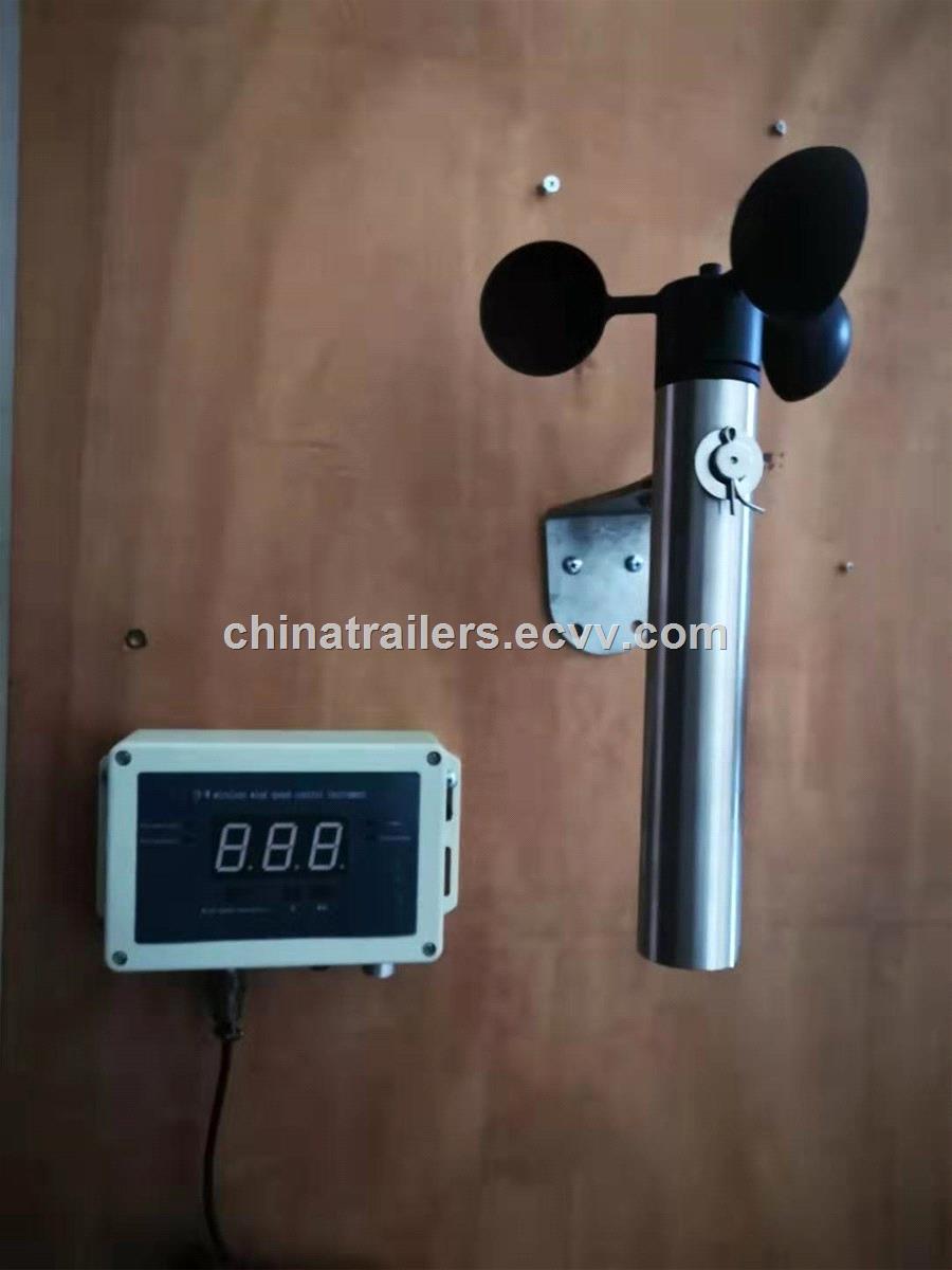 Wireless Wind Speed Sensor Anemometer for Crane Solar Powered Permanent Power Wind Direction Temperature Sensor