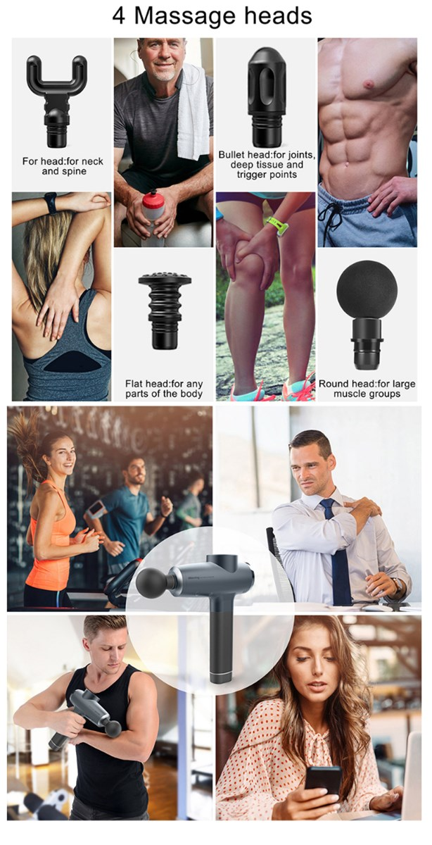 Cordless Handheld Deep TissueMuscle Massager Percussion Massage Device Super Quiet Massage gun