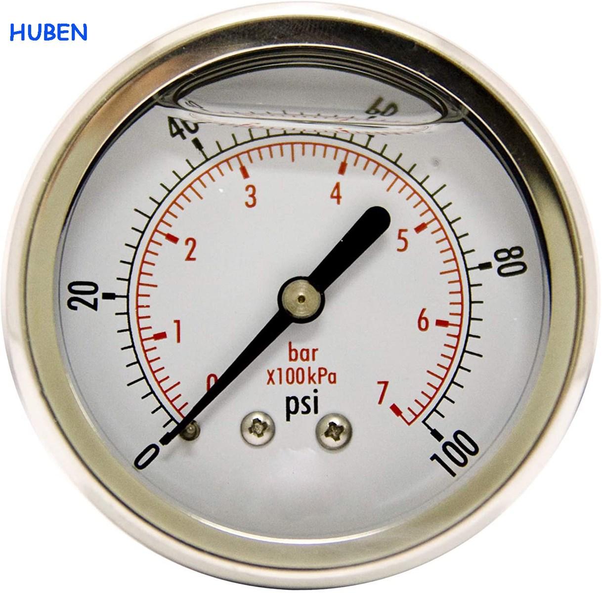 212 Liquid Filled Pressure Gauges