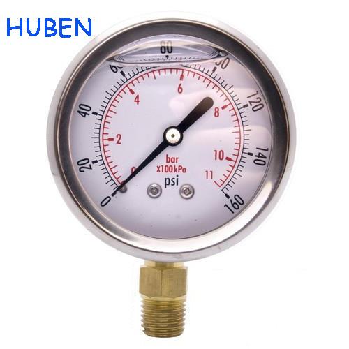 Huben Instruments Liquid Filled Pressure Gauge