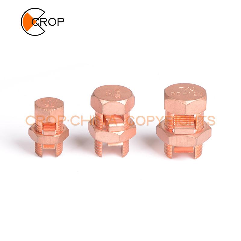 TJ brassCopper split bolt clamp wire connector