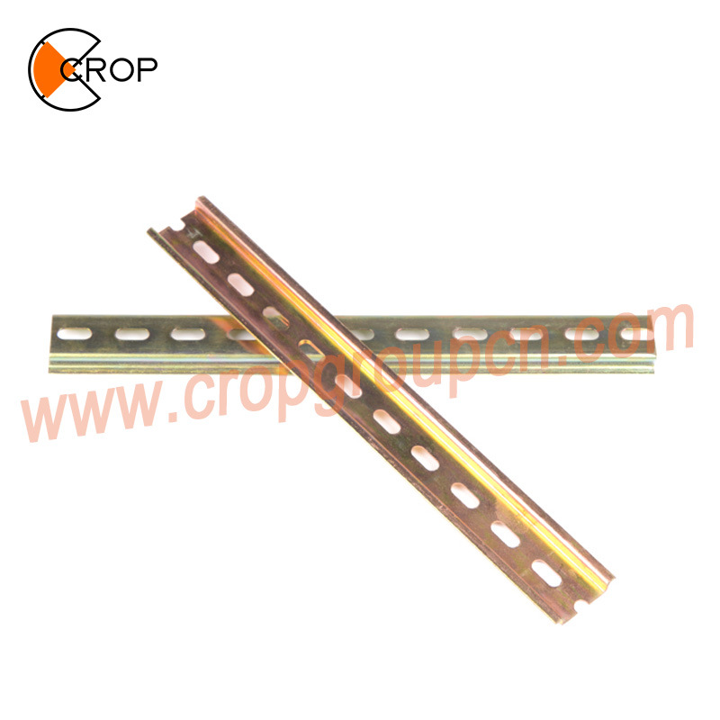 stainless steelaluminum Din Rail for circuit breaker electric mountable rail distribution terminal box mounting