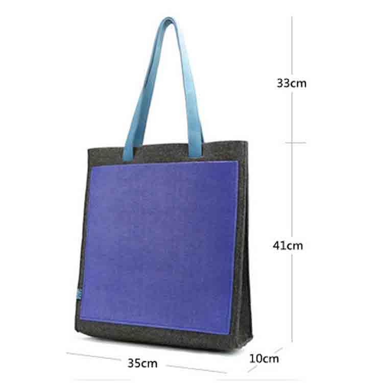 felt shopping handbag tote bags