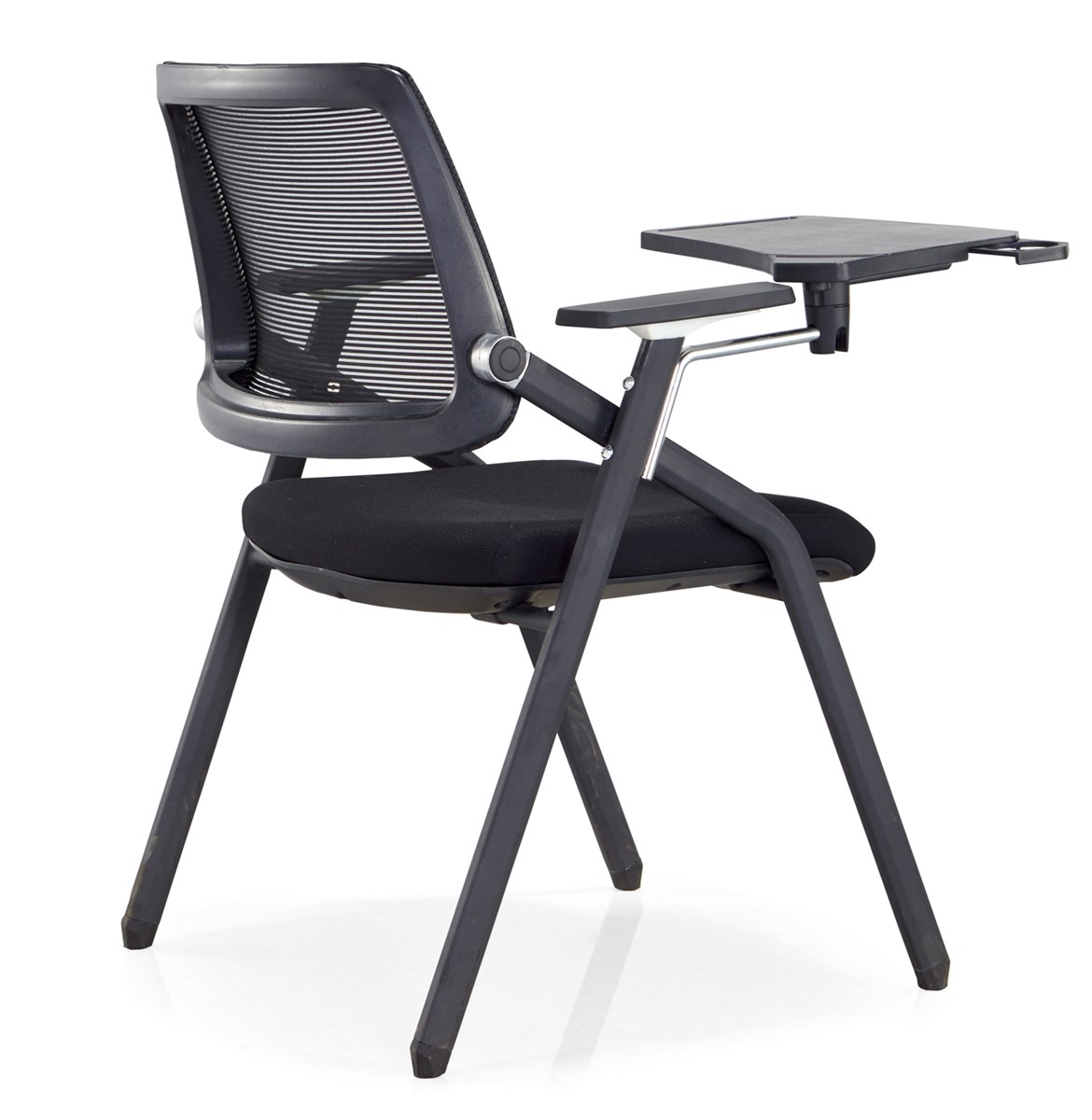 Office furniture training room mesh chair with writing pad