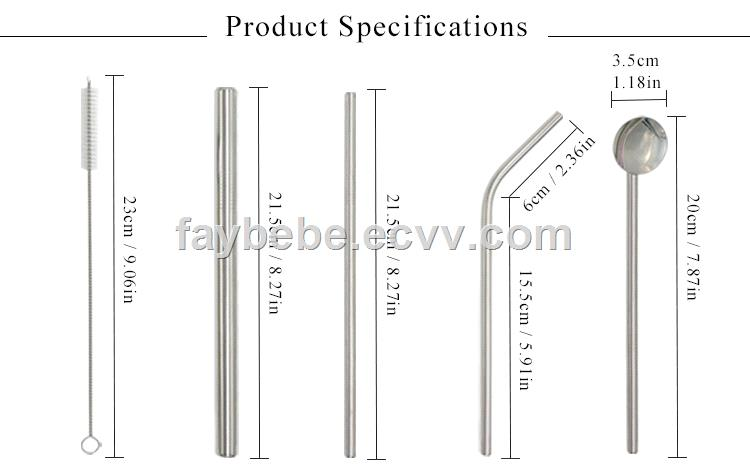 Drinking tool stainless steel straws wholesale