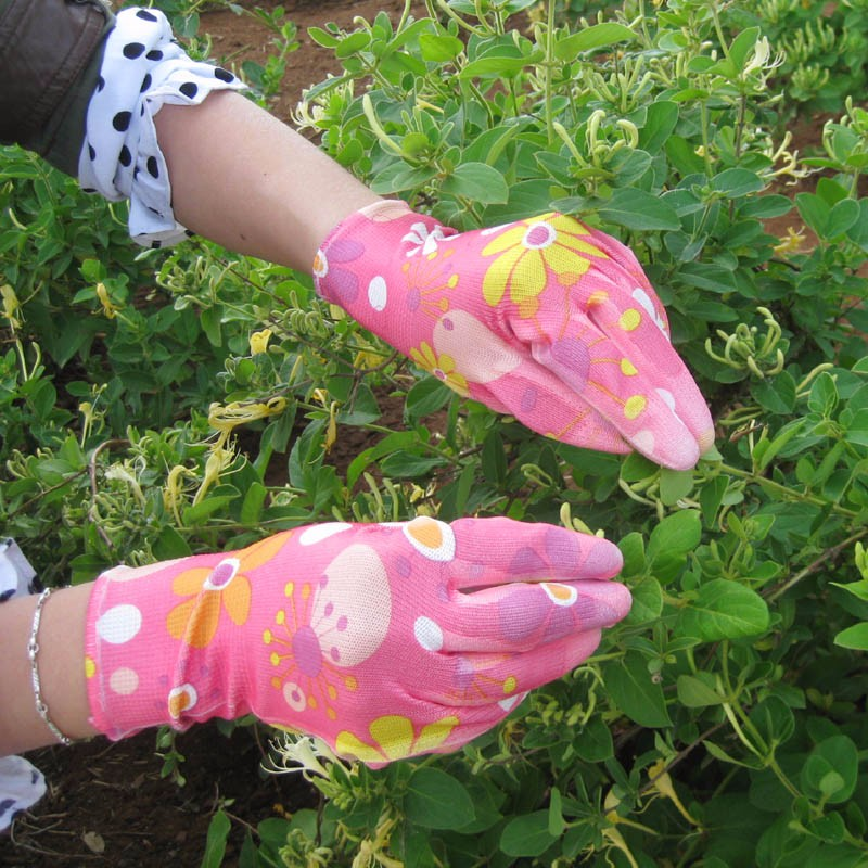 COLORFUL PU COATED PALM FIT GARDEN GLOVE MANUFACTURER FOR WOMEN
