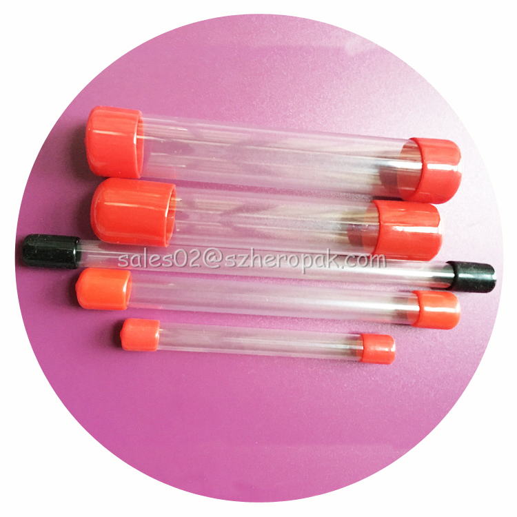 Plastic packaging tubes with lids necessary for snack factory