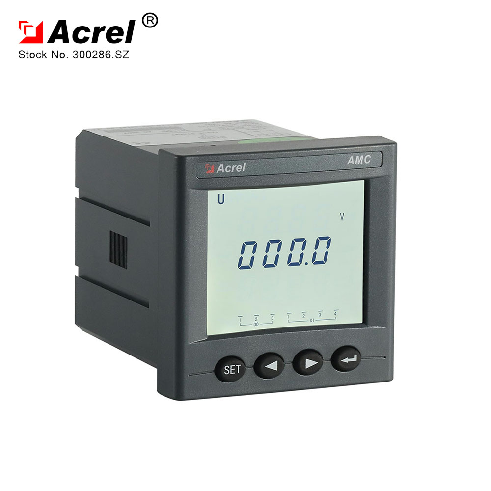 ACREL new arrival AMC72LAV power consumption lower than 5VA Single phase LCD voltmeter