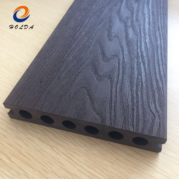 anti uv waterproof exterior grooved wpc wood composite decking covering hollow deck board 14023mm outdoor