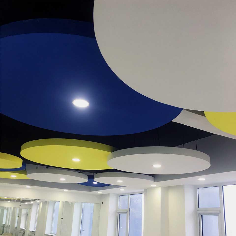 Glass fiber rock wool gypsum calcium silicate PVC ceiling