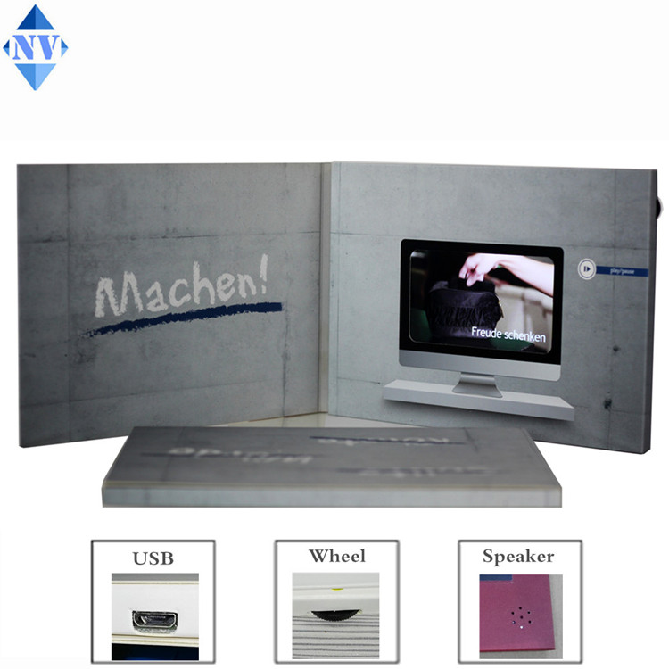 43inch LCD video brochure for promotion advertising