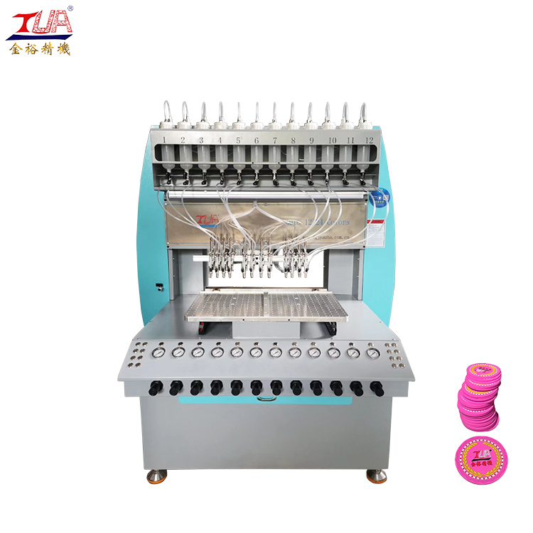 rubber liquid pvc product automatic making dispensing dripping machine
