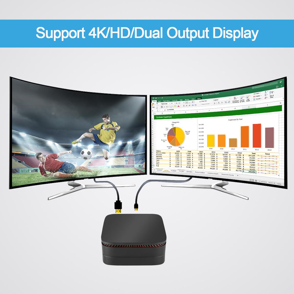 cheap mini pc case Apollo Lake celeron J3455 DDR3 64GB EMMC win 10 home server mini pc office computer