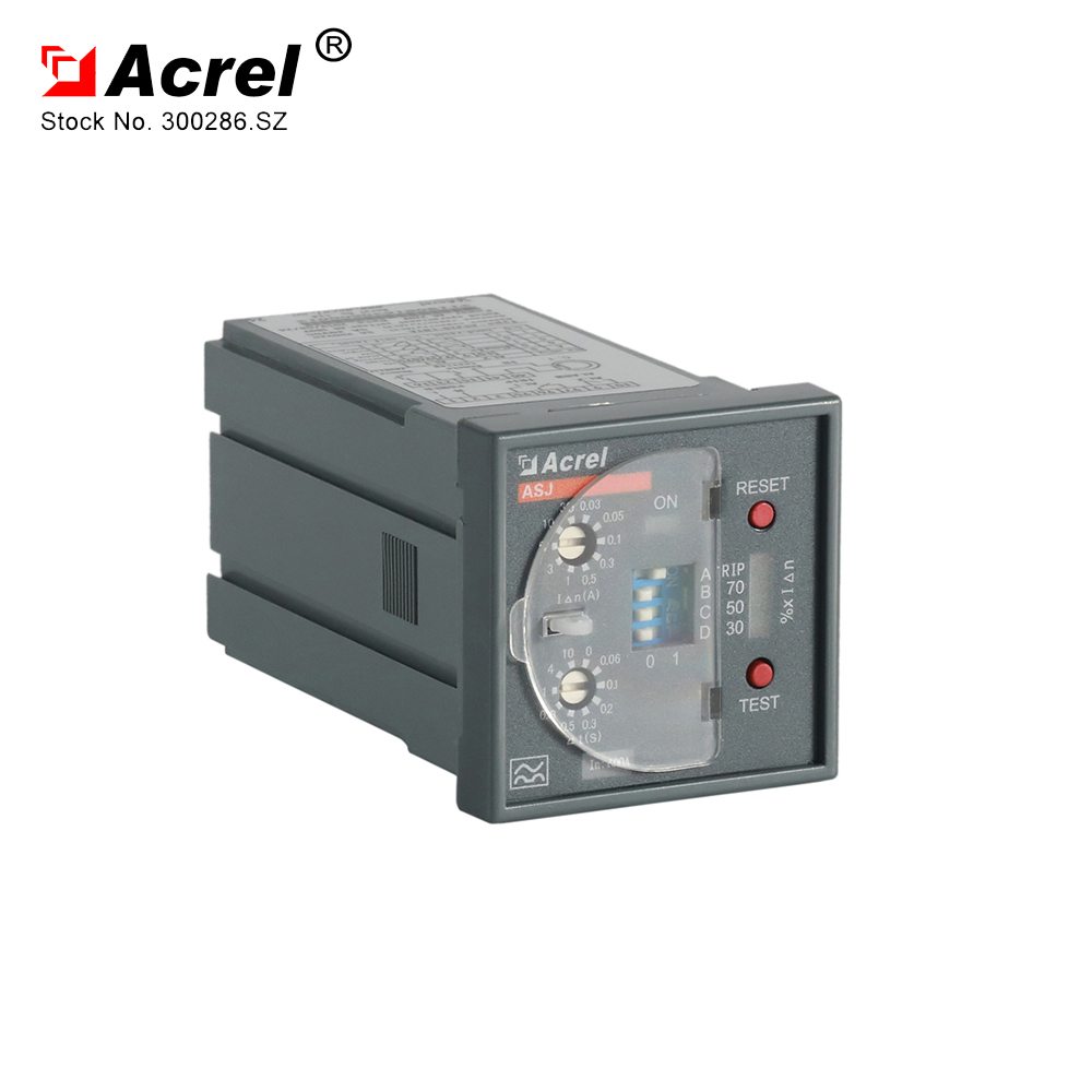 Acrel 300286SZ residual current relay protection relay ASJ20LD1A operation with circuit breaker
