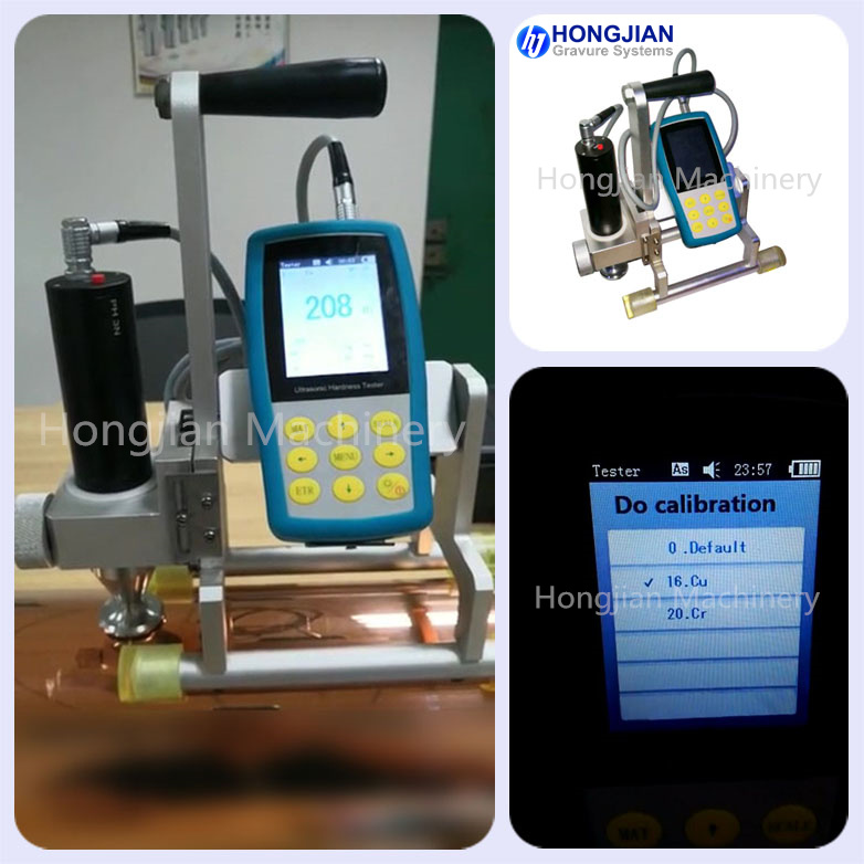 Ultrasonic Hardness Tester for Gravure Cylinder Measuring of Copper and Chrome Surfaces HV HRC Vickers Meter