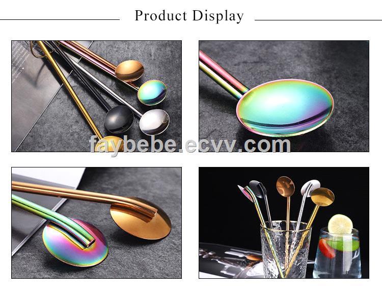 Stainless Steel 304 Straw Spoons CS019
