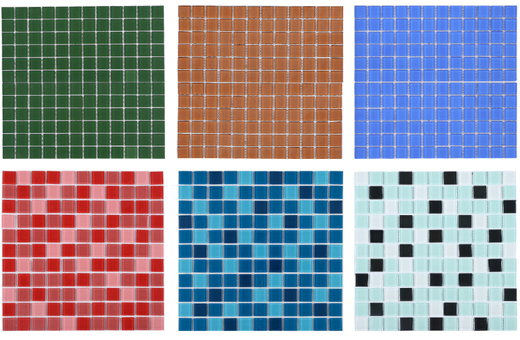 4mm Cheap Price Multi Colors Blue Swimming Pool Glass Mosaic