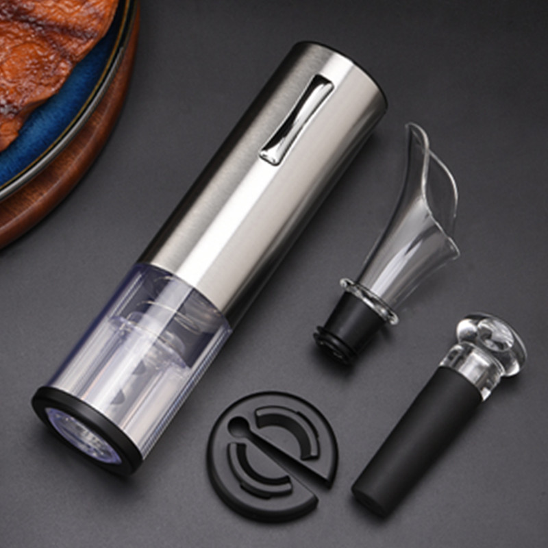 Rechargeable USB Wine Set Mini Electric Wine Bottle Opener with Foil Cutter