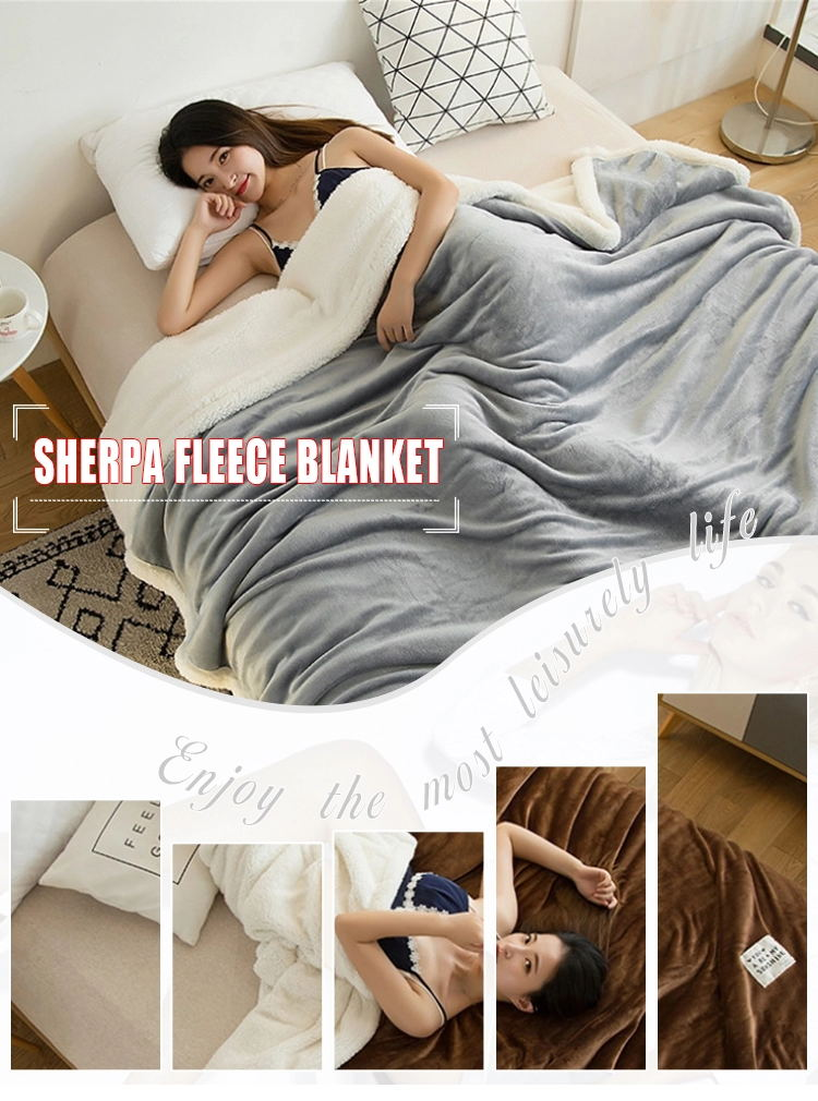 Soft Warm Couch Pink Plush Fuzzy Sherpa Fleece Throw Blanket