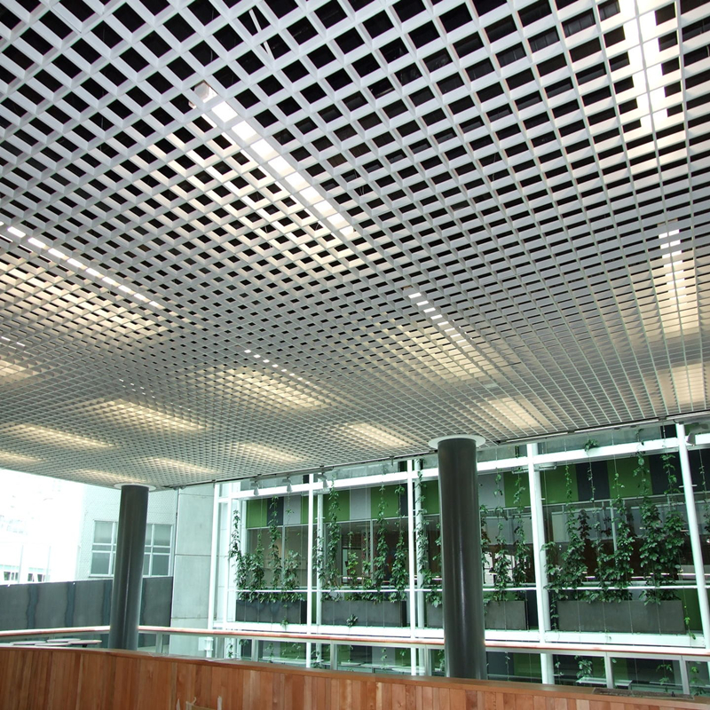 2020 New Products Building Decoration Material Suspended Aluminum Open CellGrill CeilingGrid Ceiling Tiles from Foshan