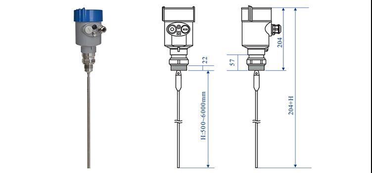 0 30m Ultrasonic Level Transmitter Radar Level Transmitter with LCD Display