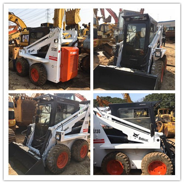 used bobcat s130 mini skid steer loader wheel loader s130