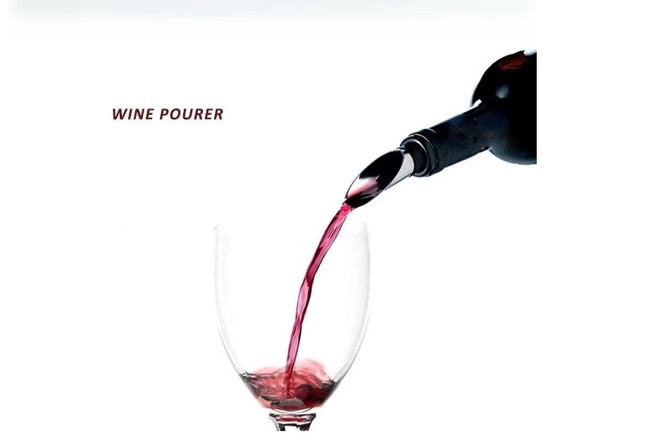 Custom Logo Wine Tool Accessory Wine Kit Stopper Pourer Aerator aireador decantador de vino