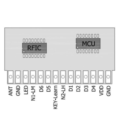 6Channel Switching Control RF Receiving Module with Decoding Function