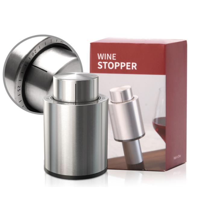 Vacuum Red Wine Stopper Wine Accesory Metal Material Wine Stoppers accesorios de vino al por mayor