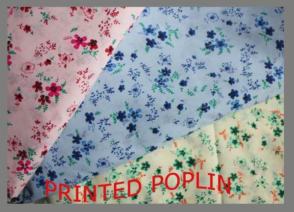 polyester cotton fabric printed poplin 110x76186th 100gsm