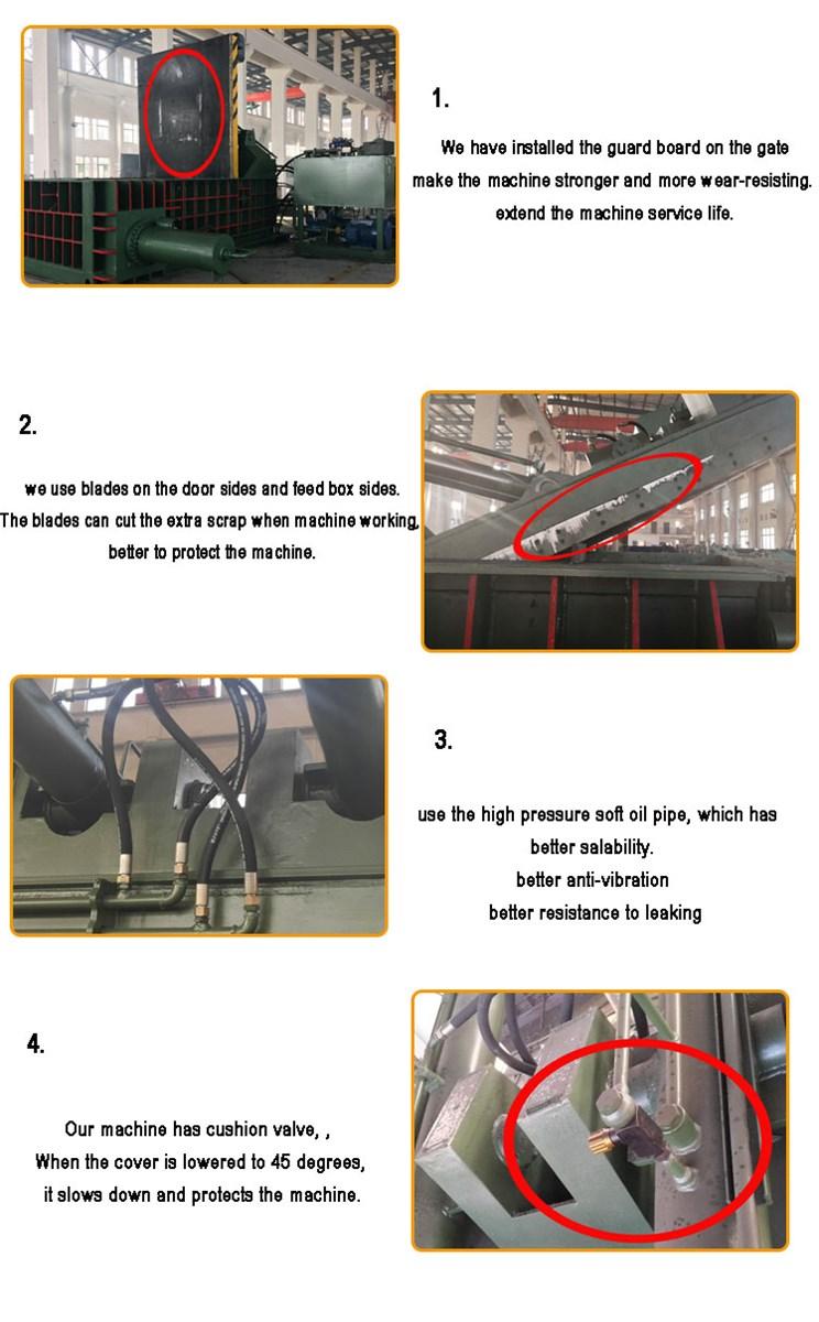 metal baling press machine Scrap metal baler recycling equipment