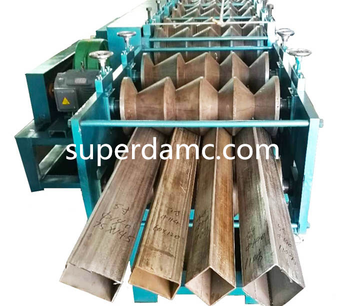 Steel square tube roll forming machine