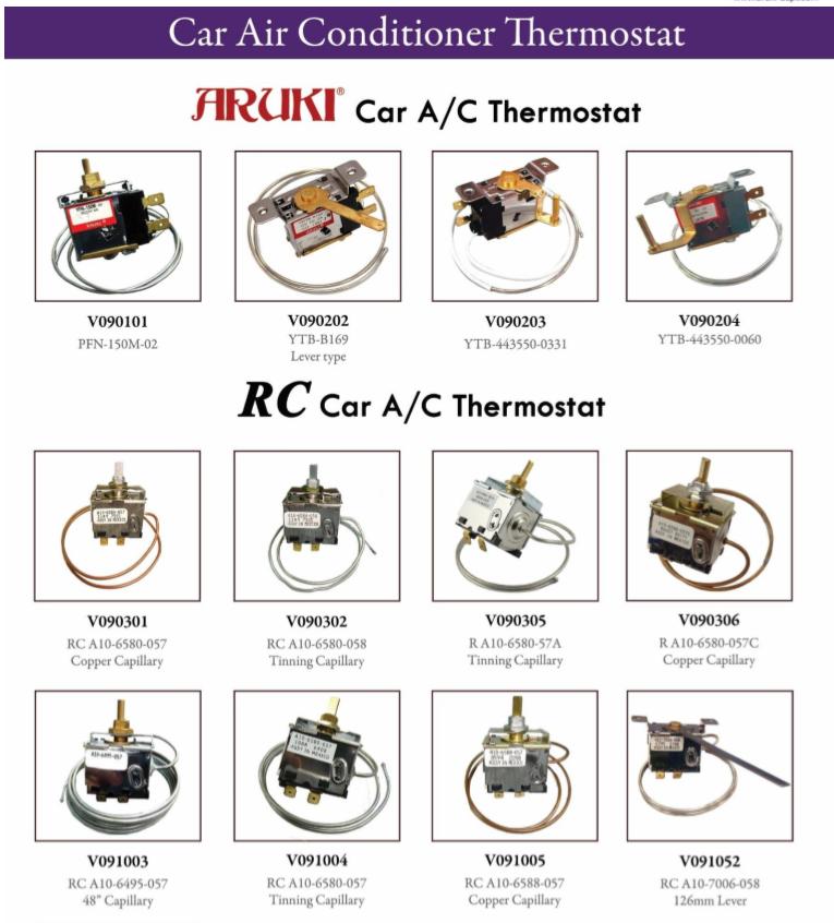 Aruki CAR AC Thermostat for auto AC system