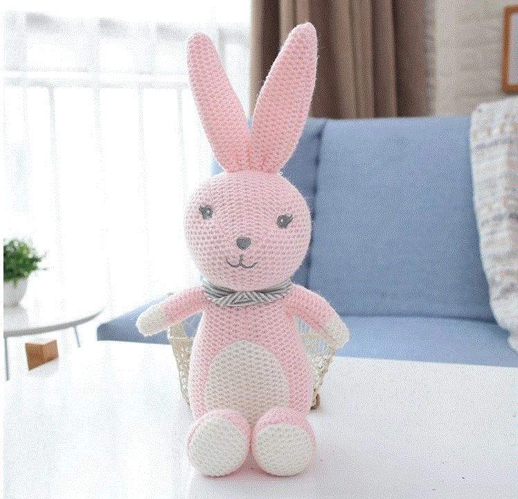 New Oem Baby Crochet Animal Toys 100 Handmade Knitted Bunny Rabbit Toy