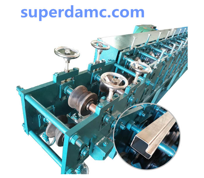 Stainless steel door frame shape tube roll forming machine