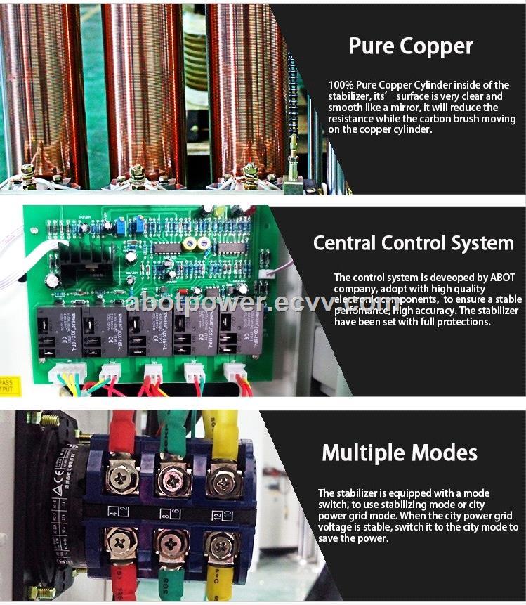 ABOT Servo Motor Copper Roller Type 3 Phase Voltage Stabilizer 150KVA AVR