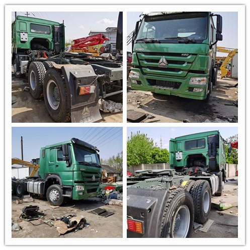 single bed howo A7 tractor truck with 420 HP engine