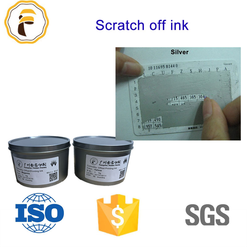 High quality screen printing scratch off ink silverblack color