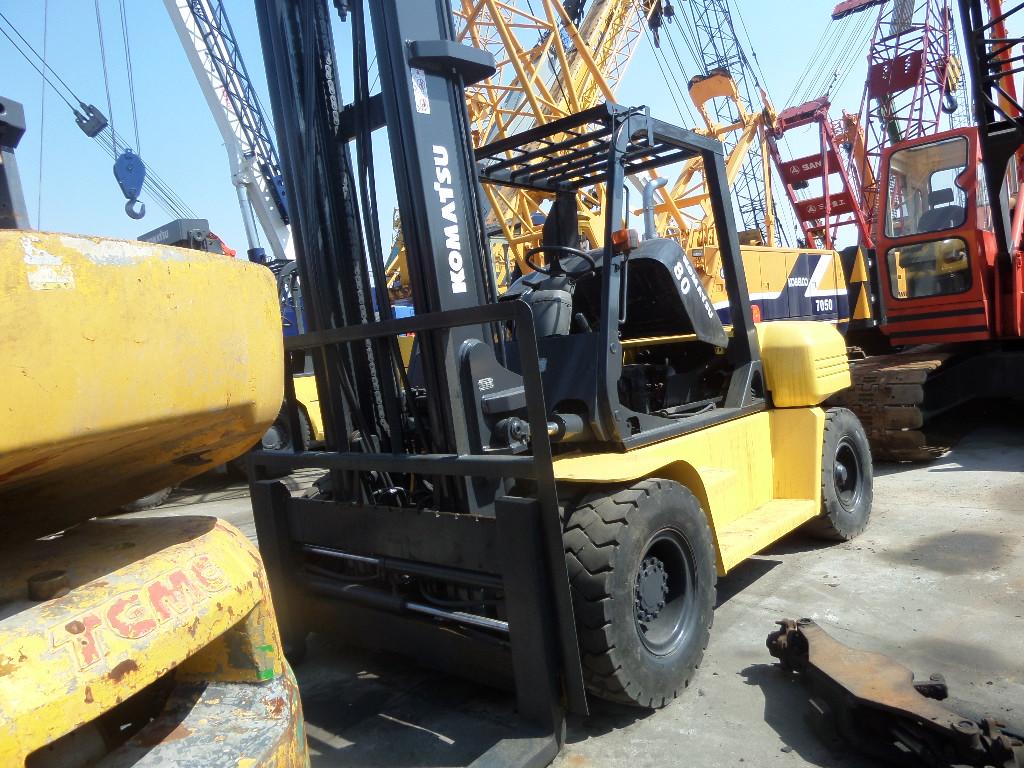Cheap Used Komatsu Forklift 8ton Komatsu FD80 forklift FD80FD30FD50