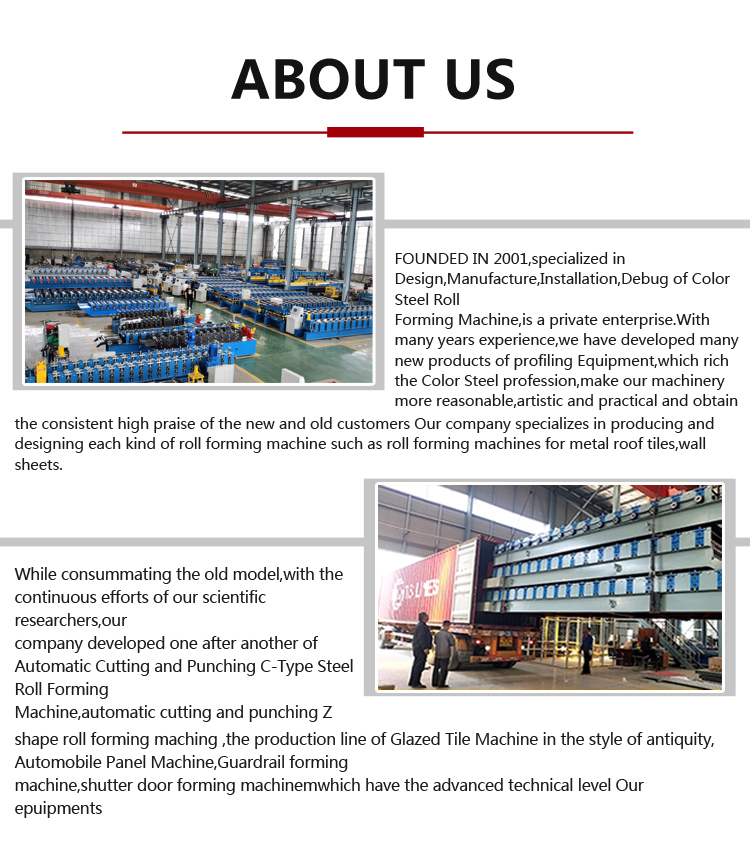 Double Layers Metal Color Steel Tile Making Machine Corrugated and Trapezoid Roofing Tile Roll Forming Machine