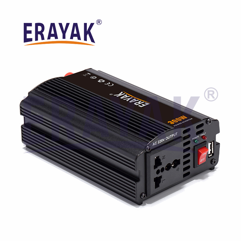 Erayak 8033U 300w DC12V to AC220v Power InverterCar InverterHome InverterOff Grid InverterSolar Inverter