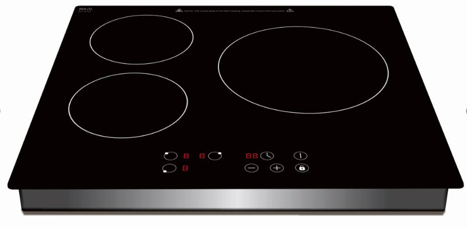 Built in 3 Burner Induction Cooker with Sensor Touch Controller Four Digital Display