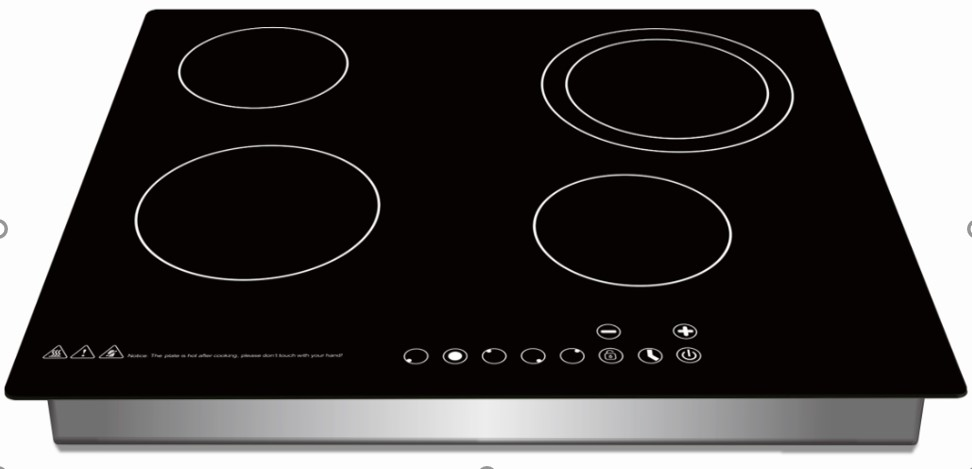 Built in 4 Burner Induction Cooker with Sensor Touch Controller Four Digital Display