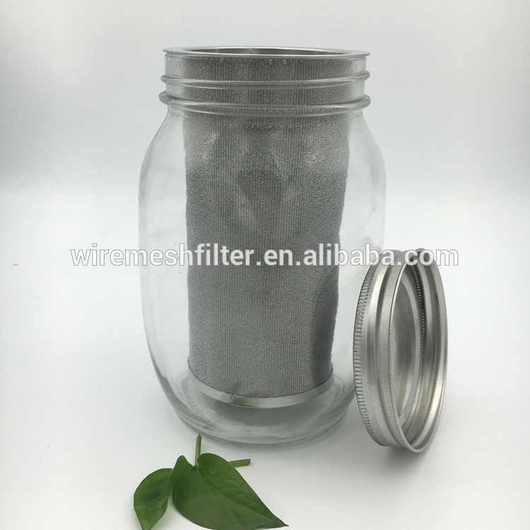 New hot sale 24oz filterin mason jar 100 micron coffee cold brew coffee filter tube