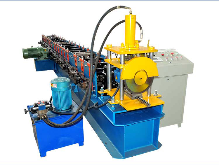 High Quality C Channel Purlin Shutter Door Roll Forming Machine