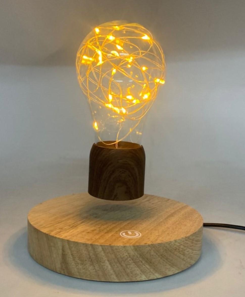 PA8841 new round base magnetic levitation table lamp bulb light