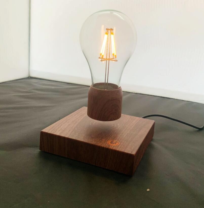 Magnetic Levitating Floating Wireless LED Light Bulb Desk Lamp